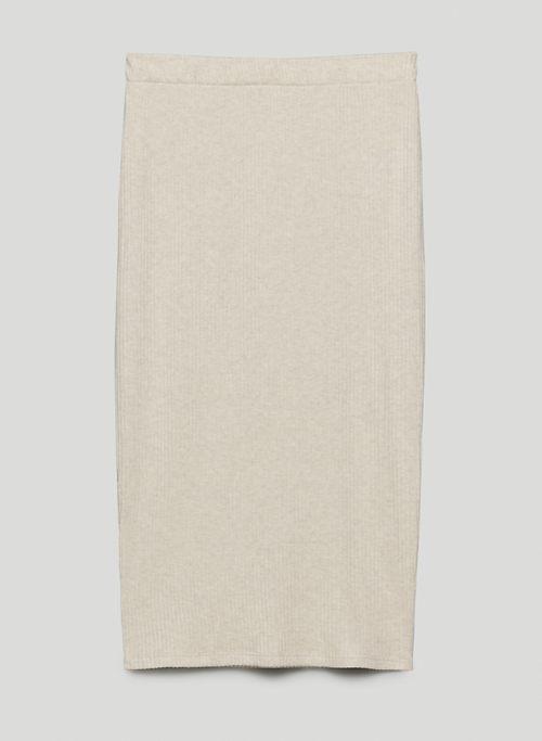 TRAVERSE SKIRT - High-waisted, ribbed pencil skirt