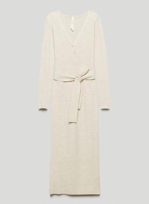 HENLEY SWEATER DRESS