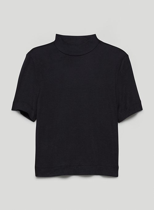 GONZALO T-SHIRT - Ribbed mock-neck t-shirt