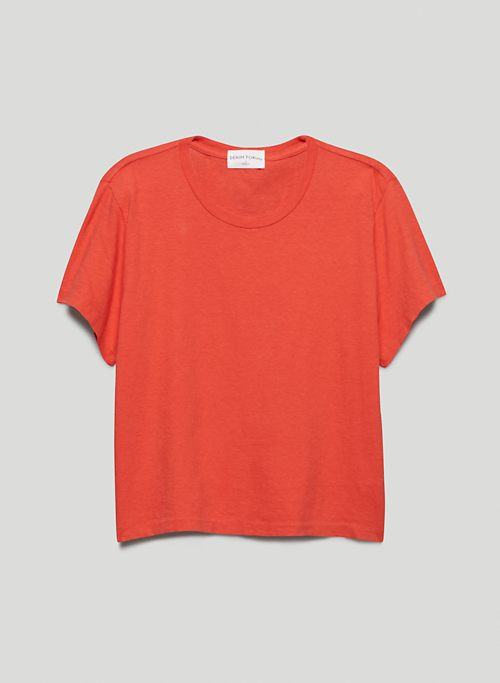 THE KATE CROP TEE - Cropped, crew-neck cotton t-shirt