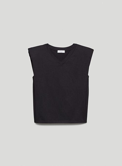 SHOULDER PAD V-NECK T-SHIRT - Shoulder pad t-shirt