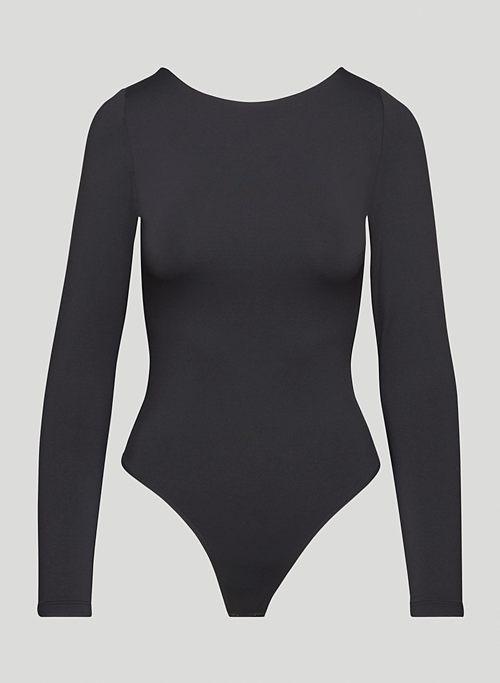 CONTOUR BOATNECK BODYSUIT - Long-sleeve, scoop-back bodysuit