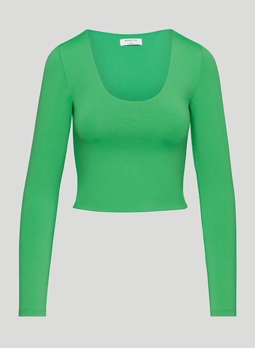 CONTOUR SCOOPNECK LONGSLEEVE - Long-sleeve, scoop-neck top