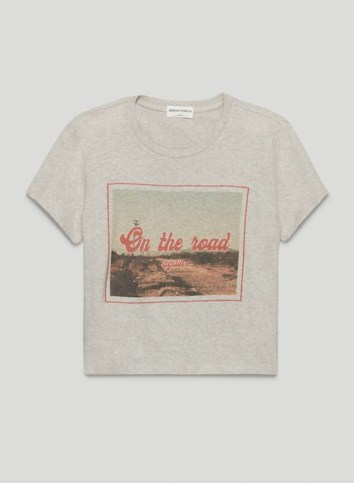 THE KATE CROP TEE - Graphic crew-neck t-shirt