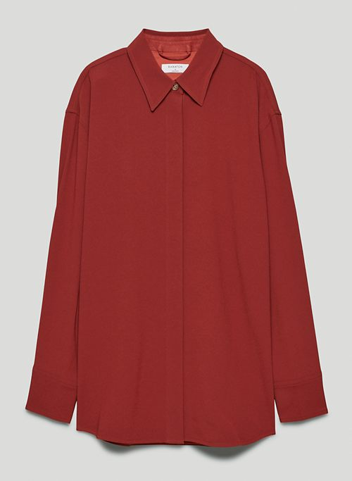 DOLLY SHIRT JACKET - Satin button-up blouse