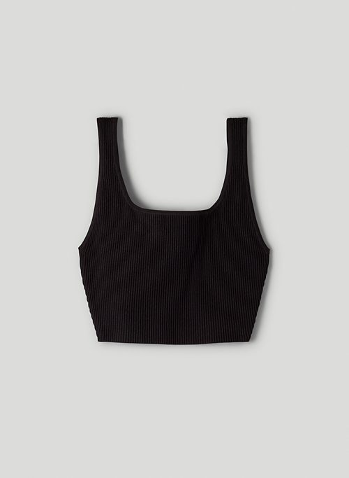 SCULPT KNIT CROPPED TANK - Cropped, ribbed tank top