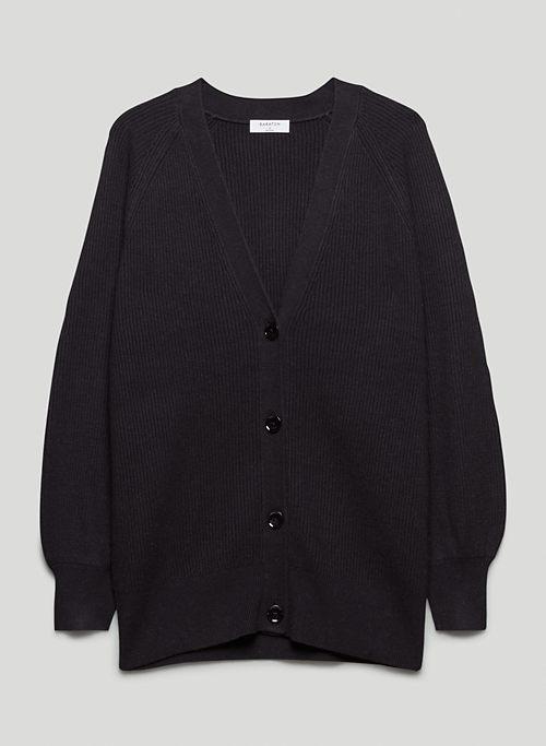 BESPOKE CARDIGAN - Wool-linen blend cardigan