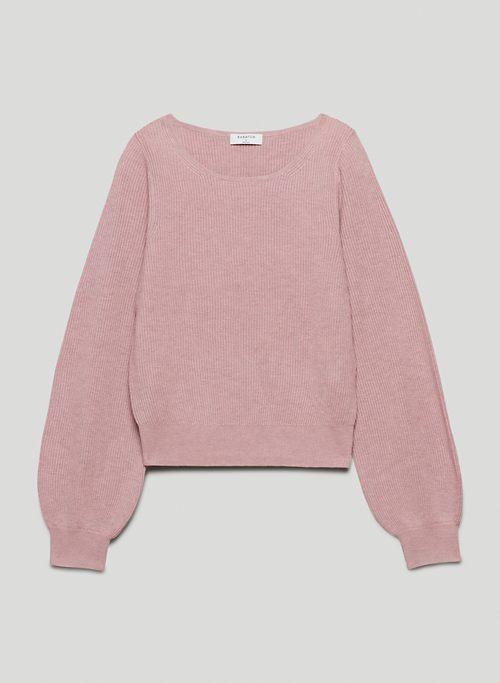 COLUMN SWEATER - Balloon-sleeve sweater