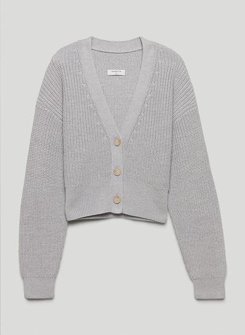 CANBERRA CARDIGAN - V-neck wool cardigan