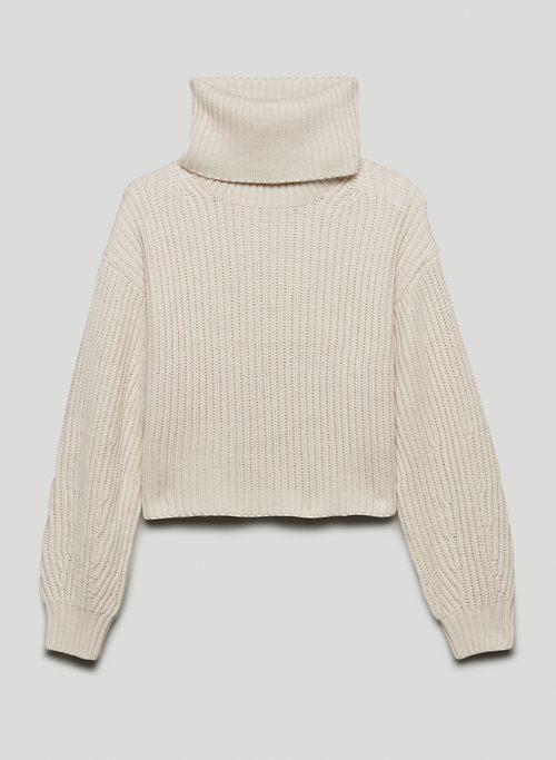 GUELL SWEATER - Relaxed wool turtleneck sweater