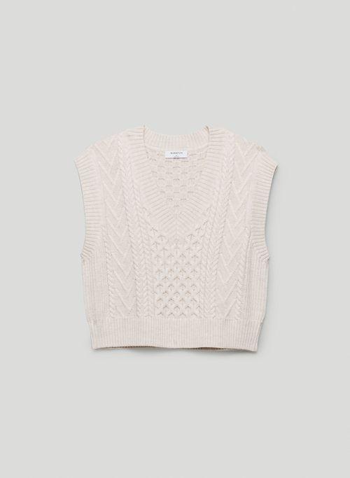 EMPORIA VEST - Cable-knit sweater vest