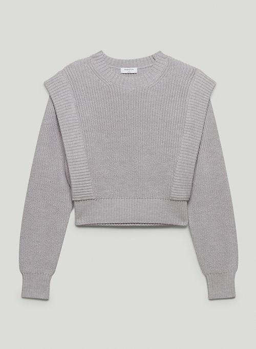GRAZIA SWEATER - Merino wool shoulder pad sweater