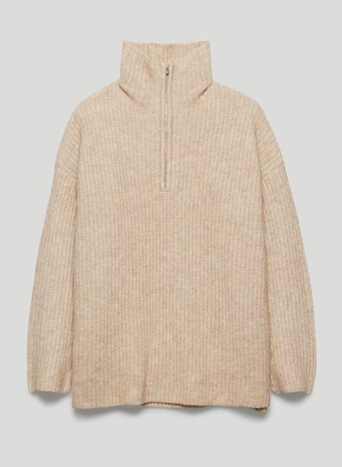 CHARTER SWEATER - Half-zip mock-neck sweater