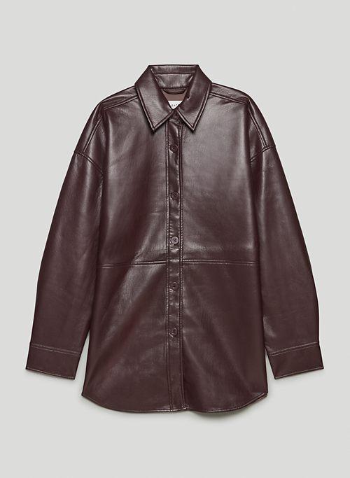 PELLI SHIRT JACKET - Faux leather shirt jacket