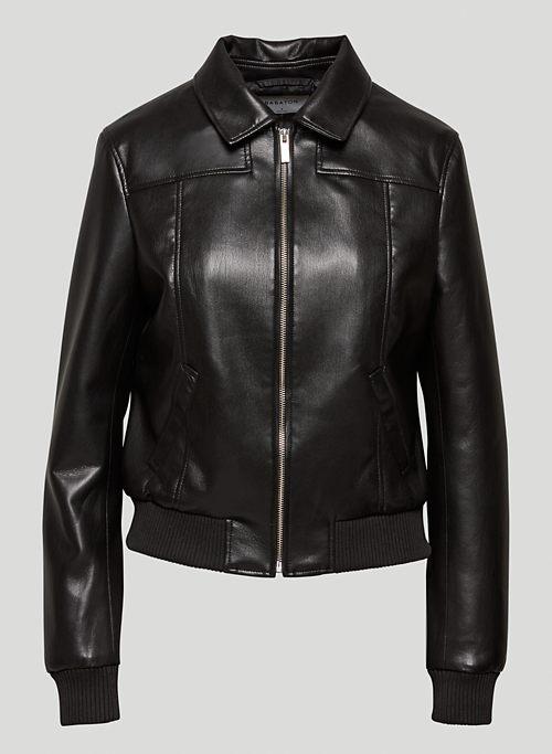 ARC BOMBER JACKET - Vegan Leather bomber jacket