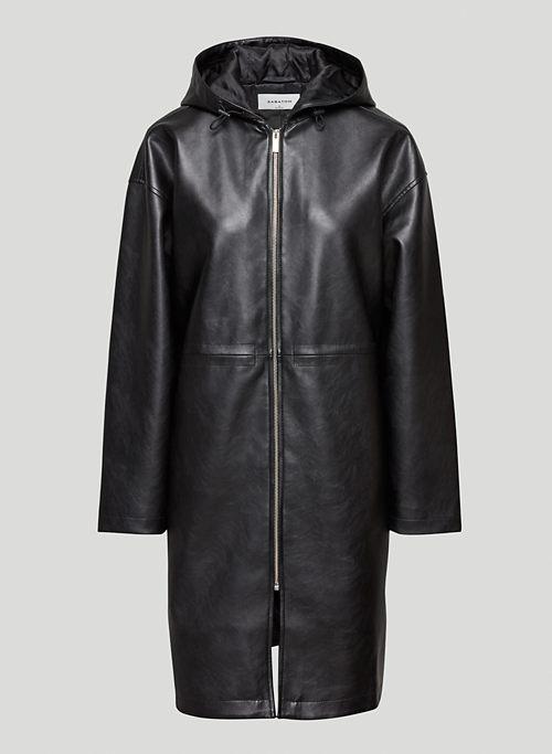 ARTICLE ANORAK - Hooded Vegan Leather anorak jacket