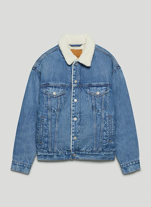 THE FRANCOISE SHERPA JACKET - Sherpa-lined denim jacket
