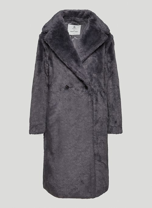 THE TEDDY COAT - Oversized, double-breasted teddy coat