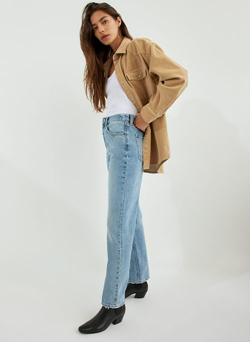 THE JONI HIGH RISE LOOSE 29L - Super high-waisted, straight-leg jeans
