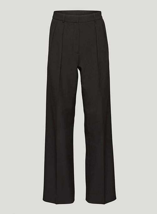 PLEATED PANT - High-waisted, wide-leg pleated pants