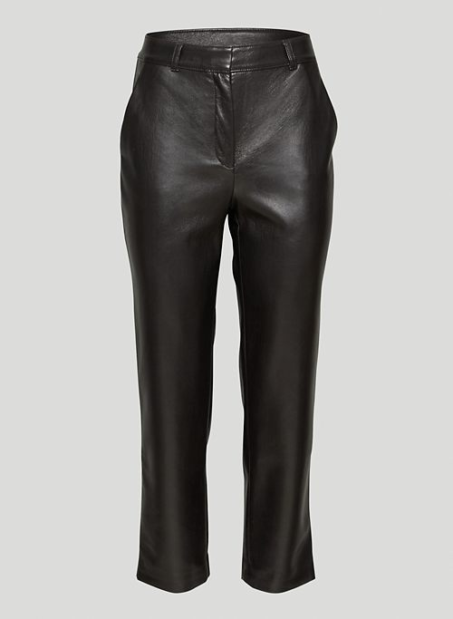 COMMAND CROPPED PANT - Mid-rise Vegan Leather pants