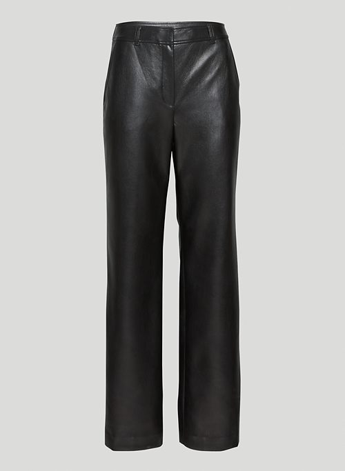 BAZAAR PANT - Vegan Leather mid-rise pants