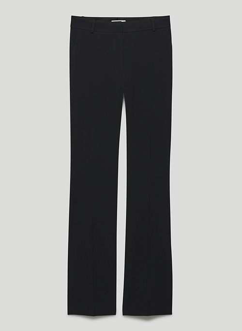 DOLLY PANT - Mid-rise, straight-leg pants with side slits