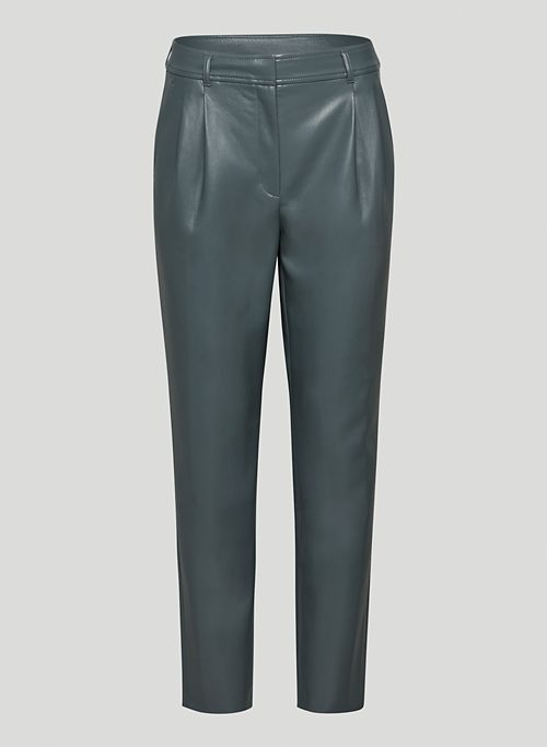 COSMO PANT - Vegan Leather mid-rise pants