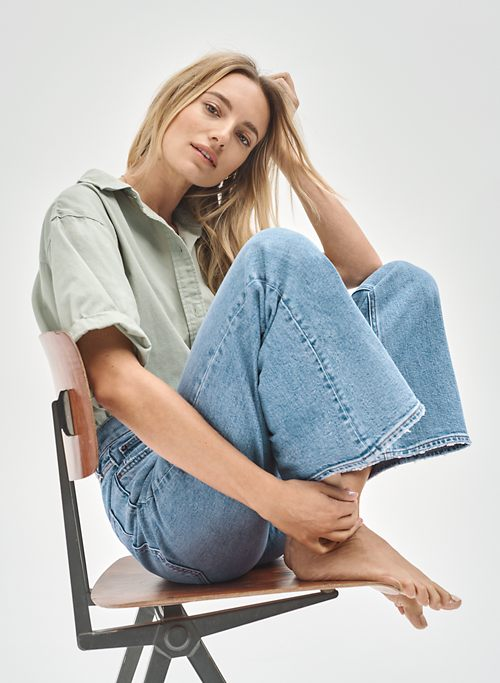 THE TWIGGY HIGH RISE FLARE - High-waisted, flared jeans