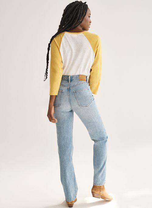 THE JONI HIGH RISE LOOSE 32L - High-waisted, loose jeans