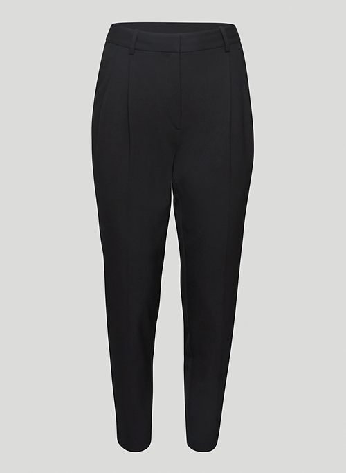 VOGUE PANT - Relaxed, mid-rise pleated pants
