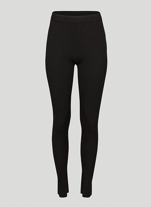 DISTILL LEGGING - Side slit knit leggings