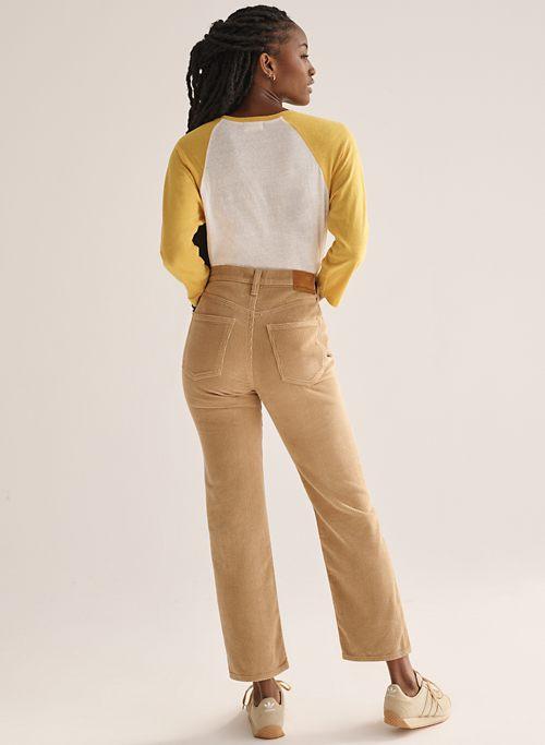 THE JONI HIGH RISE LOOSE 29L - High-waisted, loose corduroy pants