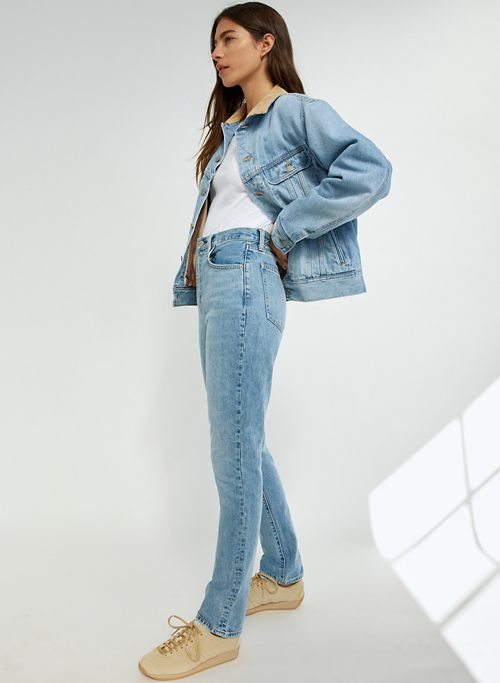 THE NINA SUPER HIGH RISE CIGARETTE 30L - Super high-waisted slim jeans