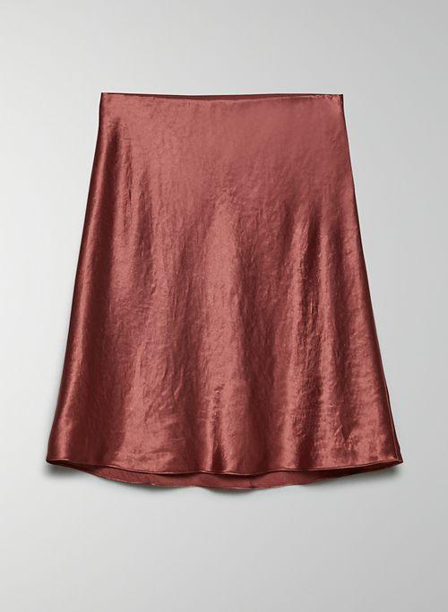 SLIP SKIRT - Mid-rise satin skirt