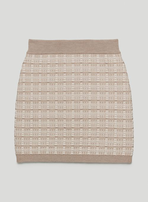SALVATORE SKIRT - Merino wool tweed mini skirt