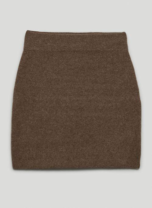 GO-SEE SKIRT - Wool mini skirt