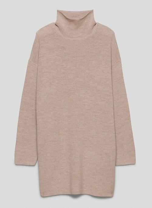 MACLEAN DRESS - Oversized turtleneck sweater dress