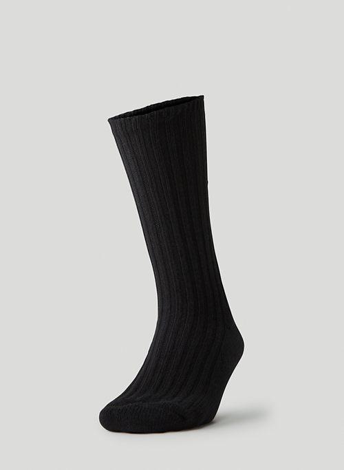 COZY RIBBED CREW SOCK - Ribbed crew sock
