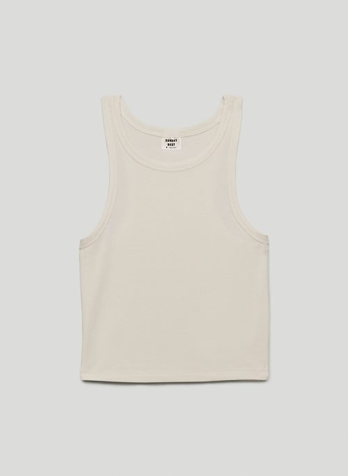 HONOR TANK - Cropped, ribbed racerback tank top