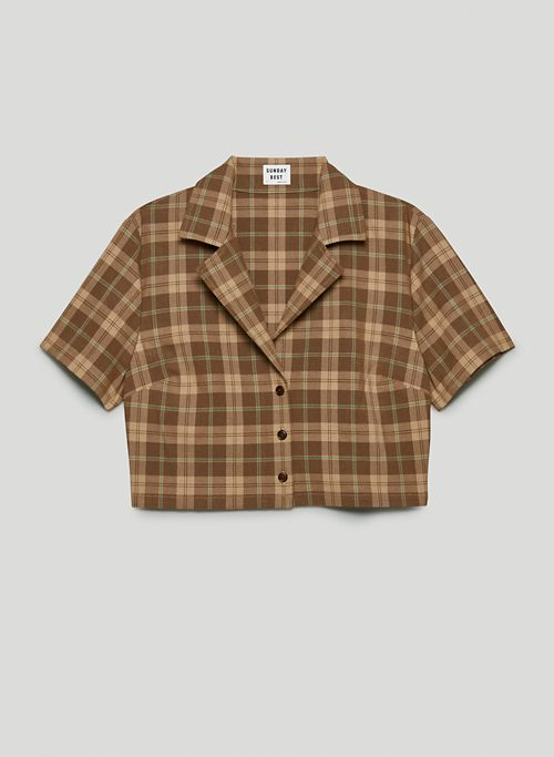 TUESDAY BUTTON-UP - Boxy button-up shirt