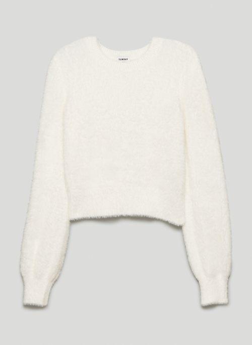KITTEN SWEATER - Fuzzy V-neck sweater
