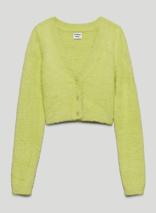 REESE CARDIGAN - Cropped, V-neck button-up cardigan