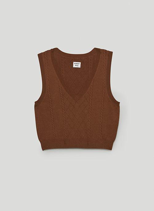 QUINN VEST - V-neck sweater vest