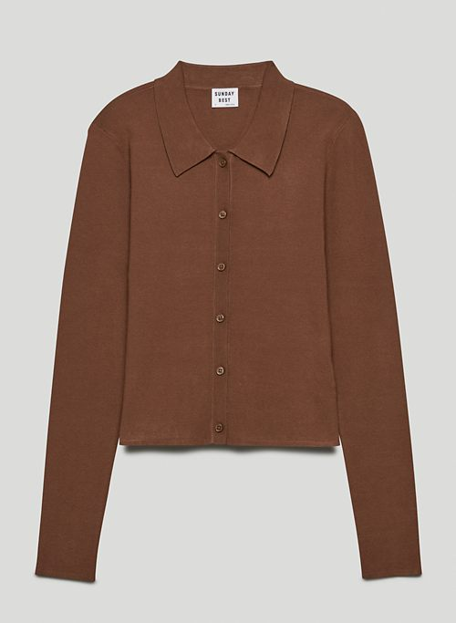 CECE SWEATER - Button-up polo sweater