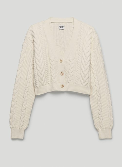 COOPER CARDIGAN - Cable-knit cardigan