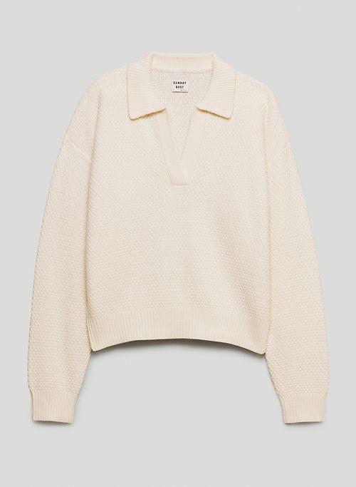 LOTTIE SWEATER - Open-neck polo sweater