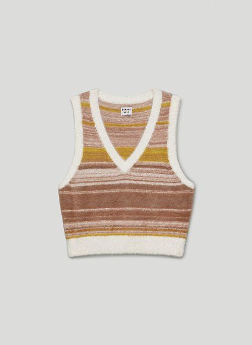 TIA VEST - V-neck sweater vest
