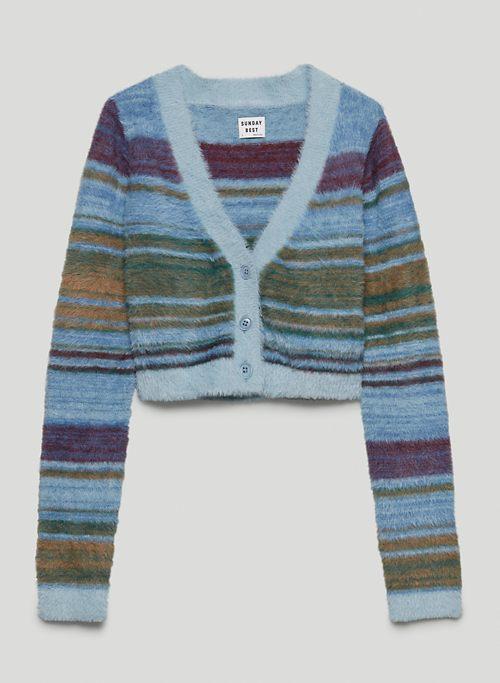 REESE CARDIGAN - Cropped, V-neck cardigan