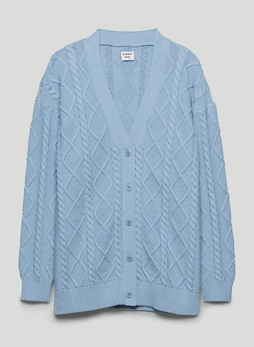 LAMORA CARDIGAN - Relaxed cable-knit cardigan